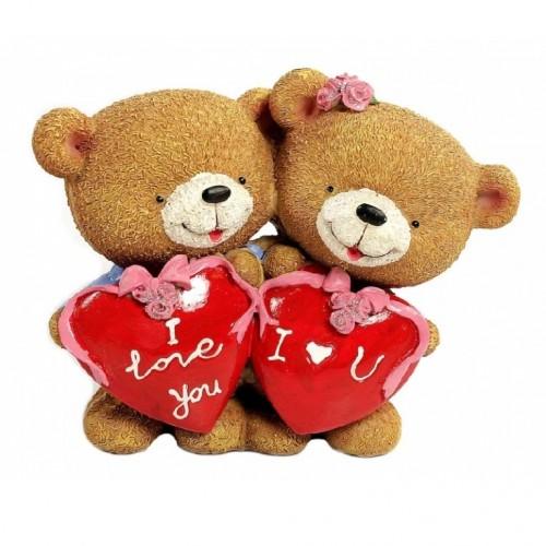 C10588  (1-36) Фигурка Пара медвежат с сердцем, 16*8*13см