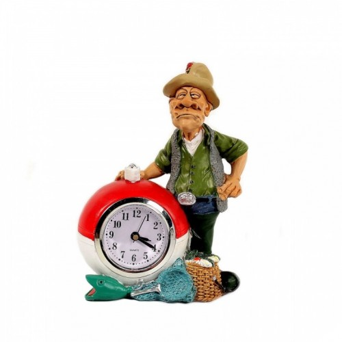 BIC4698  (1-36) Фигурка Рыбак с часами  11*7*15см
