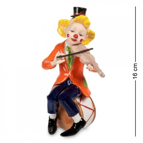 CMS-23/42 Фигурка ''Клоун со скрипкой'' (Pavone) 16см