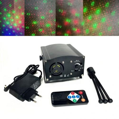 Декоративный светильник Лазер 608-2 (24) точки красн/зелен.