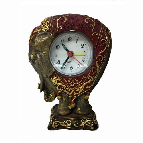 07-038 (144)  Фигурка Слон - часы, 10*14см