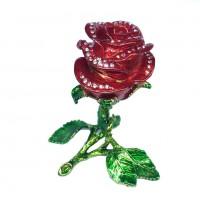 Шкатулка со стразами  3246  Роза  11*12см
