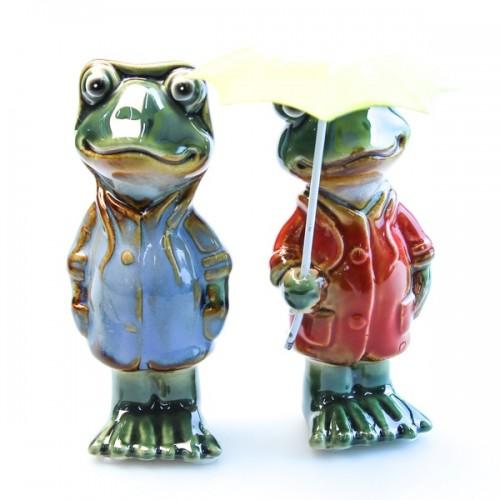 JY1984* Набор из двух лягушек 12*12 см