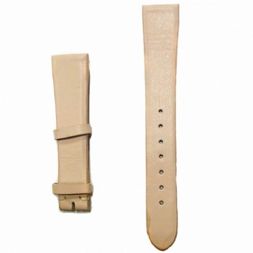 Ремешок  на часы  бежевый, натуральная кожа, ширина-16мм, 018 16