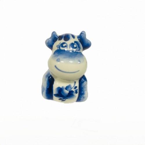 Гжель   Бык-18  Буян синий 3,5*3,5*5см