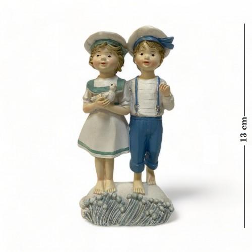 KEN77985  (4-72) Фигурка Дети-морячки (девочка, мальчик) 8*6*13см