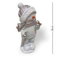 НФ068  Снеговик с птичкой 17*10*38см