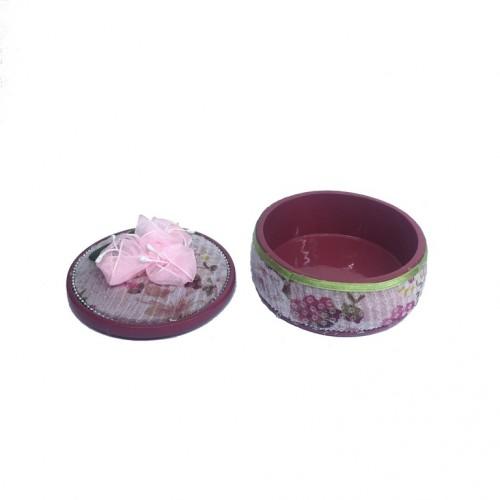 004085  (1-36) Шкатулка керамика 9*9*6см
