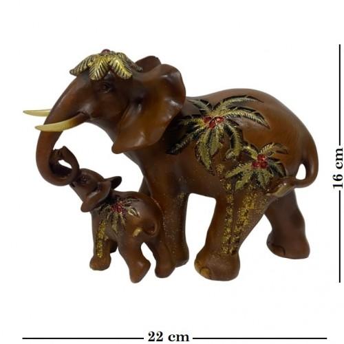 EPW31954  (1-8) Слон со слоненком 22*11*16см
