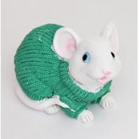 YW-00809 (72) Копилка Мышка в свитере, 8.5*12*8см