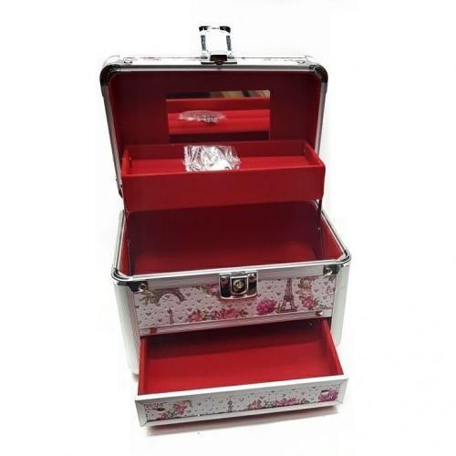 KH-1408 (24) Кейс-шкатулка для украшений, металл, 4 вида 18*12*14см