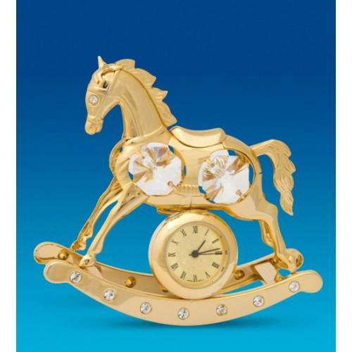 Swarovski 103 Фигурка Лошадь качалка с часами
