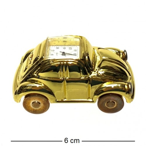 Настольный металический сувенир с часами машина