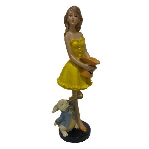 023003  (1-18) Статуэтка Алиса с кроликом   21*7*7см
