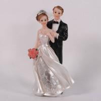 MEL9236  (1-72) Свадебная пара со светом 2вида 15см