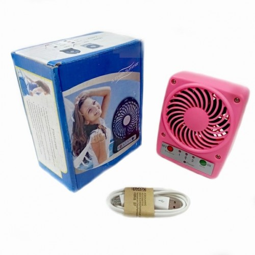 Вентилятор портативный на аккумуляторе F001 Usb. Ярко-розовый 9*3,5*11,5см