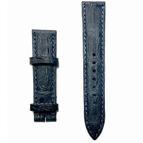 Ремешок  на часы  тёмно-серый, натуральная кожа, ширина-20мм,  02 20