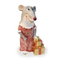 Ф1254 Мышка-леди с подарками Н-25см