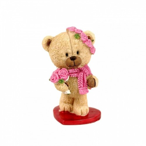 PLA17410  (1-144) Фигурка Медвежонок на сердце 2 вида 5*5*9см