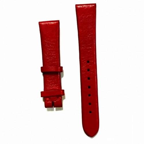 Ремешок  на часы  красный, натуральная кожа, ширина-16мм,  05 16