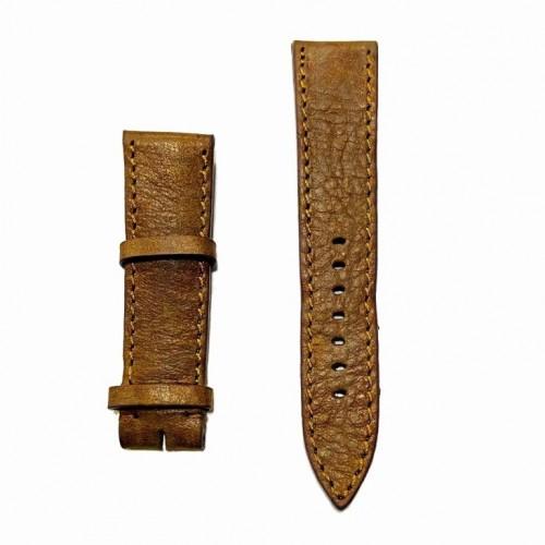 Ремешок  на часы  светло-коричневый, натуральная кожа, ширина-22мм, 01 22