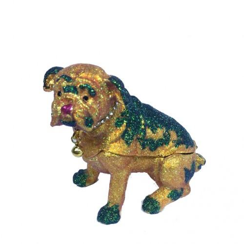 Шкатулка со стразами   205  Собака  8*9см