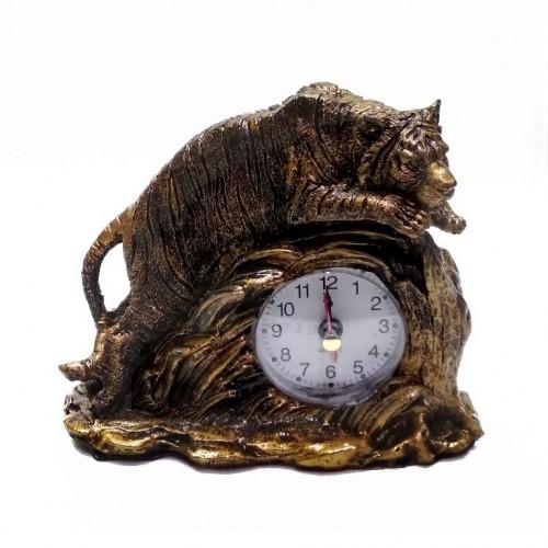 MML16130  (1-96) Часы с тигром 11*5*14 см