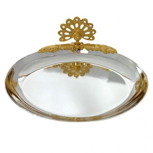 Swarovski 1158 Блюдце для колец с Павлином (овал) 12*9,5*4см