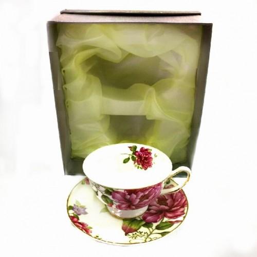 1603  (24) Чашка с блюдцем, 160 ml. в подарочной упаковке