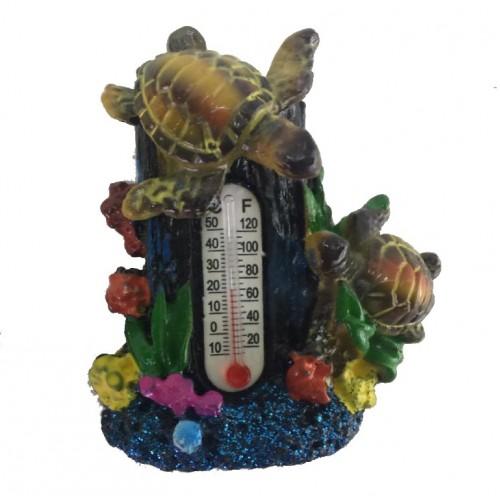 009020  (12-288) Магнит Черепашки с термометром  6*5см