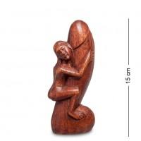 91-005 Статуэтка Абстракция, ЛОЛО 15см (красное дерево)