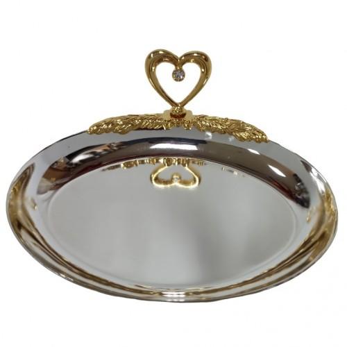 Swarovski 1157 Блюдце для колец овал с сердцем 12см