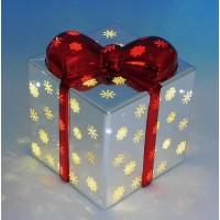 BC-38012  (1-18) Стеклянный подарок со светодиодной подсветкой 12*12*14см