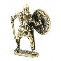 150440  Фигурка литая металлическая Рыцарь Дружинник, латунь в подарочной упаковке