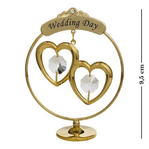 Swarovski 1169 Фигурка Свадебные сердечки 7*3*9,5см