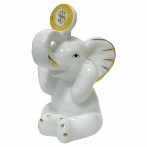DIN3082  (1-96) Слон с монетой 6*5*9см