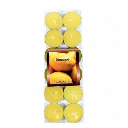 MML13864  (168) Свечи 12шт/уп  лимон 7гр.