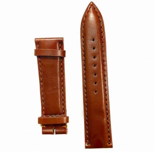 Ремешок  на часы  коричневый, натуральная кожа, ширина-22мм, 07 22